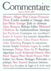 Revue Commentaire N.114 - Intérieur - Format classique