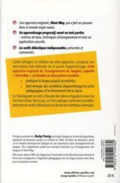 Apprendre l'anglais avec la méthode silent way - 4ème de couverture - Format classique