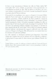 Les Villes D'Italie Du Milieu Du Xiie Au Milieu Du Xve Siecle Economies Societes Pouvoirs Cultures - 4ème de couverture - Format classique