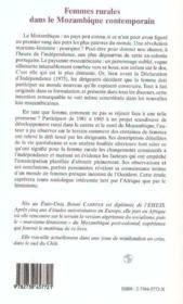 Femmes Rurales Dans Le Mozambique Contemporain ; Politique Et Quotidien, Une Emancipation Manquee ? - 4ème de couverture - Format classique