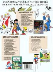 Johan et Pirlouit t.14 ; la horde du corbeau - 4ème de couverture - Format classique