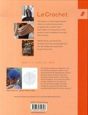 Le crochet ; sacs, bijoux et accessoires - 4ème de couverture - Format classique