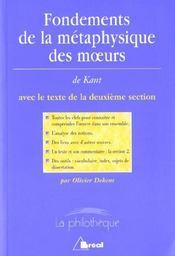 Fondements de la métaphysique des moeurs, de Kant - Intérieur - Format classique