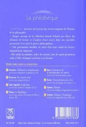 Fondements de la métaphysique des moeurs, de Kant - 4ème de couverture - Format classique