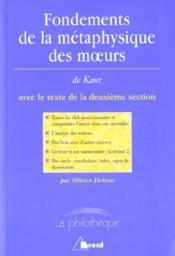 Fondements de la métaphysique des moeurs, de Kant - Couverture - Format classique