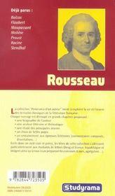 Rousseau - 4ème de couverture - Format classique