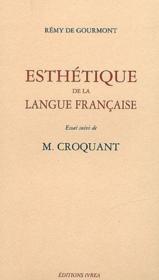 Esthétique de la langue française ; M. Croquant - Couverture - Format classique