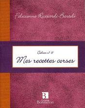 Cah.17 mes recettes corses - Intérieur - Format classique
