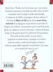 Le chien de Max et Lili est mort - 4ème de couverture - Format classique