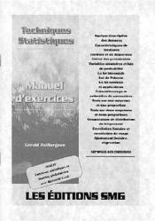 Techniques statistiques: manuel d'exercices - Couverture - Format classique