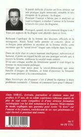 Sociologie du dragueur - 4ème de couverture - Format classique