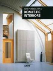Intérieurs de maisons particulières ; domestic interiors - Couverture - Format classique