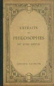 Extraits des philosophes du XVIIIe siècle - Couverture - Format classique