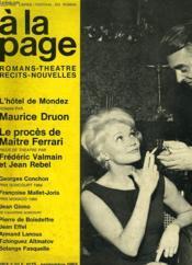 A La Plage, Romans-Theatre-Recits-Nouvelles, N° 15, Sept. 1965 - Couverture - Format classique