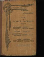 Cours De Langue Francaise - Cours Superieur - Couverture - Format classique
