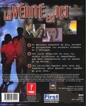 The X-Files ; Le Jeu - 4ème de couverture - Format classique