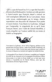 Tous les marins sont des chanteurs ; vie et mort d'Yves-Marie Le Guilvinec (1870-1900), poète et marin breton - 4ème de couverture - Format classique
