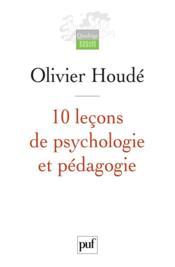 10 leçons de psychologie et pédagogie - Couverture - Format classique