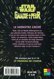 Galaxie De La Peur T.9 ; Le Monstre Cache - 4ème de couverture - Format classique