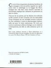 Le Savoir Des Plantes - 4ème de couverture - Format classique