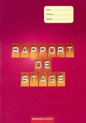 Rapport De Stage - Couverture - Format classique