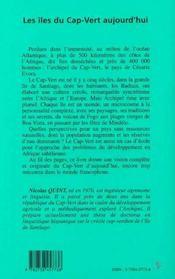 Les Iles Du Cap-Vert Aujourd'Hui - 4ème de couverture - Format classique