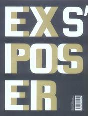 S'exposer - 4ème de couverture - Format classique