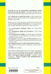 Demission ; Depart Negocie ; Transaction ; Licenciement ; 5e Edition - 4ème de couverture - Format classique