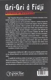 Gri-gri a fidji - 4ème de couverture - Format classique