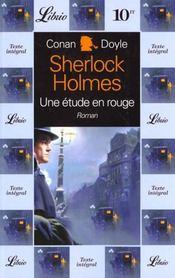 Sherlock Holmes ; une étude en rouge - Intérieur - Format classique