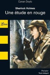 Sherlock Holmes ; une étude en rouge - Couverture - Format classique
