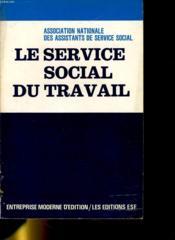 Le Service Social Du Travail - Couverture - Format classique
