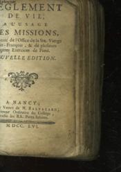 Reglement De Vie A L'Usage Des Missions - Couverture - Format classique