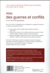 Atlas des guerres et conflits ; un tour du monde géopolitique (3e édition) - 4ème de couverture - Format classique