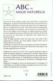 Abc de la magie naturelle - 4ème de couverture - Format classique