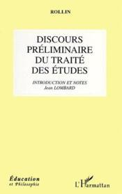 Discours préliminaire du traité des études - Couverture - Format classique
