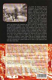 Un Siecle De Guerres ; Politique Conflits Et Societe Depuis 1914 - 4ème de couverture - Format classique