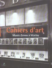 Cahiers D'Art Musee Zervos A Vezelay - Intérieur - Format classique