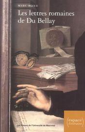 Lettres Romaines De Du Bellay - Intérieur - Format classique