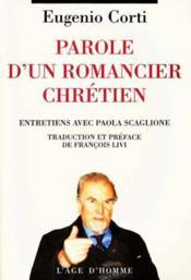 Paroles D'Un Romancier Chretien - Couverture - Format classique