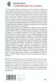 La République des lâches ; la faillite des politiques d'intégration - 4ème de couverture - Format classique