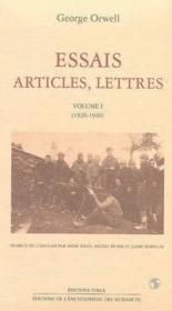 Essais, articles, lettres t.1 ; 1920-1940 - Couverture - Format classique