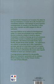 Jean-louis subileau, grand prix de l'urbanisme 2001 - 4ème de couverture - Format classique