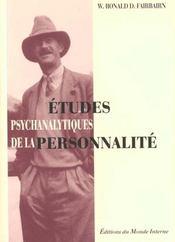 Etudes Psychanalytiques De La Personnalite - Intérieur - Format classique