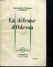 La Defense D Odessa. - Couverture - Format classique