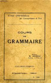 Cours De Grammaire, Enseignement Primaire Superieur - Couverture - Format classique