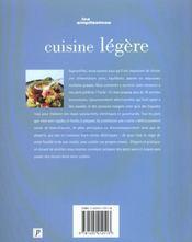 Cuisine Legere - 4ème de couverture - Format classique
