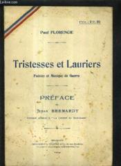Tristesses Et Lauriers Poesies Et Musique De Guerre. - Couverture - Format classique