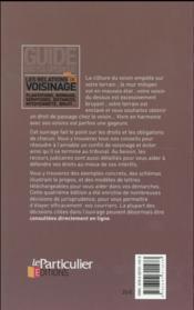 Les relations de voisinage (4e édition) - 4ème de couverture - Format classique