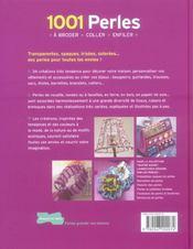 1001 perles a broder, coller, enfiler - 4ème de couverture - Format classique